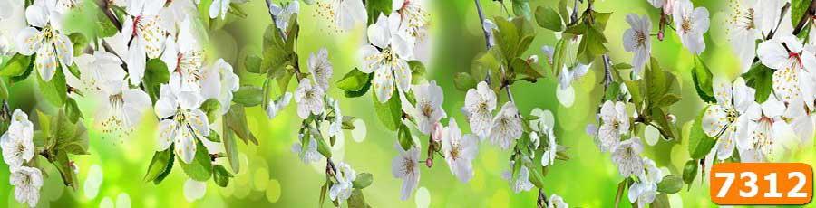 Скинали для кухни Цветы яблони