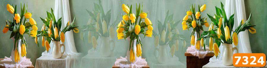 Скинали с тюльпанами для кухни