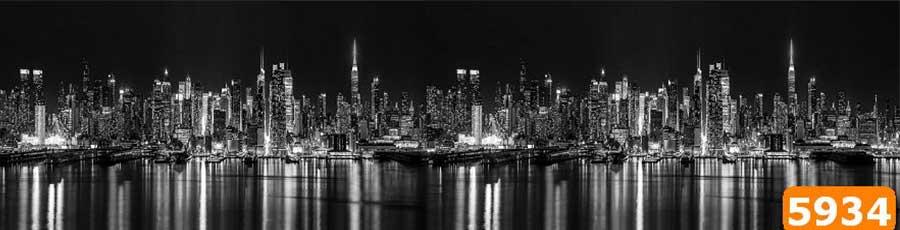Стекляный фартук Ночной город
