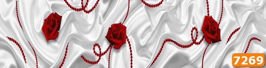 Скинали Розы на белом фоне