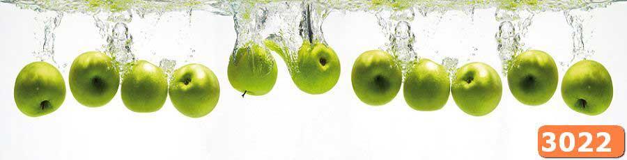 Фартук для кухни из стекла Яблоки